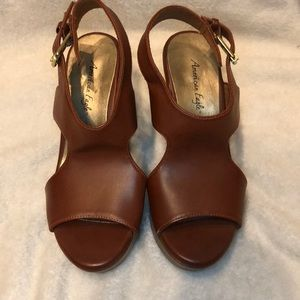 American Eagle by Payless Faux Leather Wedges
